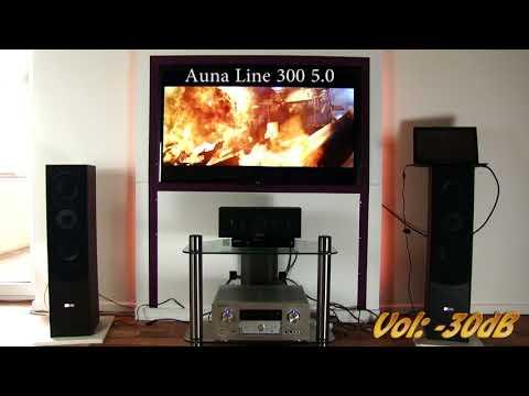 90€ Auna 300 5.0 Lautsprecherset - Review