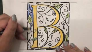 Today We Are Learning How To Create An Illuminated Letter