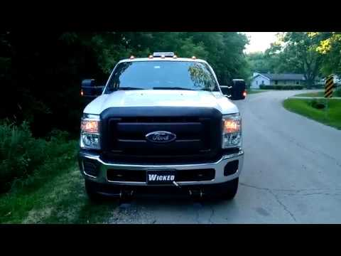 2016 F-250 Mt. Carmel Society IL LED strobe ligths www.WickedWarnings.com