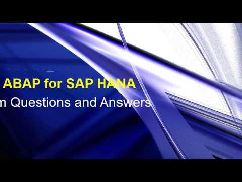 SAP ABAP for HANA 2.0 (E_HANAAW_14) Certification Exam ...