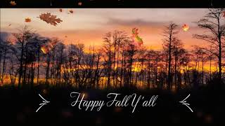 Autumn ambience, ASMR, 5 minute timer, fall leaves, wind