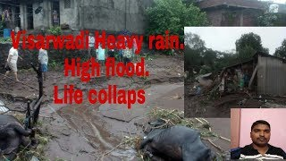 VISARWADI HEAVY RAIN AND FLOOD. .