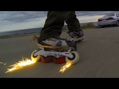 Inline Skater Sparks It Up On The Streets  -Bill Stoppard