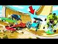 GTA 5: AVENGERS ARMY vs ULTRA MEGA RAMP JUMP CHALLENGE! #3