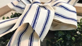 How To Create A Simple Bow || Tutorial || Home Decor