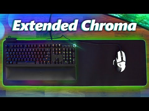 Razer Goliathus Extended Chroma Mouse Pad Review!