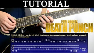 Cómo tocar The bleeding acoustic de Five finger death punch (Tutorial de Guitarra) / How to play