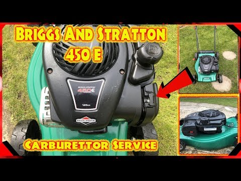 Briggs And Stratton 450 E Series Lawnmower Carburettor Service