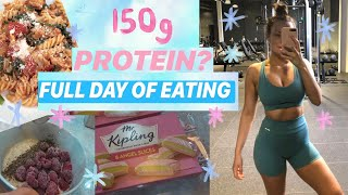 FULL DAY OF EATING 150g protein, macros included!