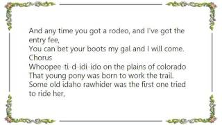 Chris LeDoux - The Buckskin Lady Lyrics