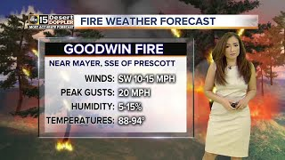 Hot, dry conditions continue during Goodwin Fire