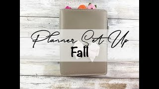 Fall Planner Set Up