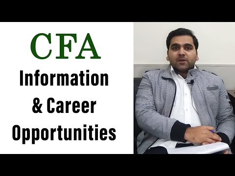 CFA | Chartered Financial Analyst | Career Opportunity : CA Legacy