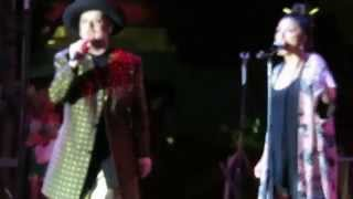 Boy George - Bigger Than War.  GREAT SONG. Live acoustic. Halloween 2015 W. Hollywood, CA.