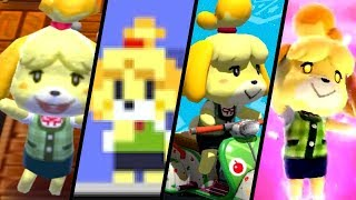Isabelle  - (Animal Crossing) - Evolution of Isabelle (2012 - 2018)