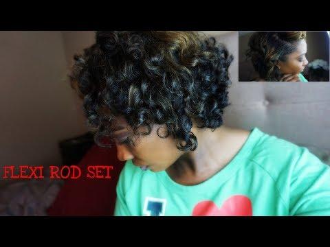 Flexi Rods On Relaxed Bob Short Hair Blunt Cut Friendly Essntl