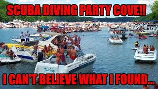 Scuba Diving the BIGGEST Lake Party Spot, Party Cove Lake Ozarks! I can't believe what I found...