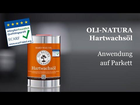 Schritt-für-Schritt Anwendungsvideo zur Beschichtung von Parkettböden mit dem neuen Hartwachsöl.
