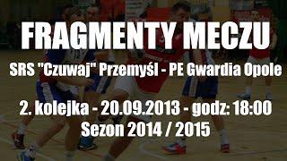 preview picture of video 'Fragmenty meczu - SRS Czuwaj Przemyśl - PE Gwardia Opole'