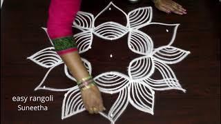 Margazhi kolam designs with 7 dots - Dhanurmasam muggulu