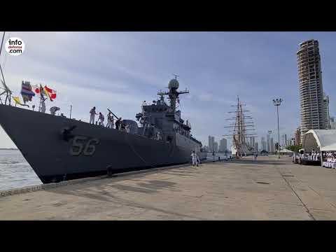 La corbeta ARC Almirante Tono arriba a Colombia