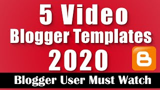 5 Best Movie Or Video Blogger Template With Download Link || Tutorial-37