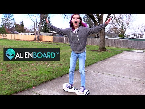 HOVERBOARD AlienBoard Mini Segway Review and Play | RadioJH Audrey