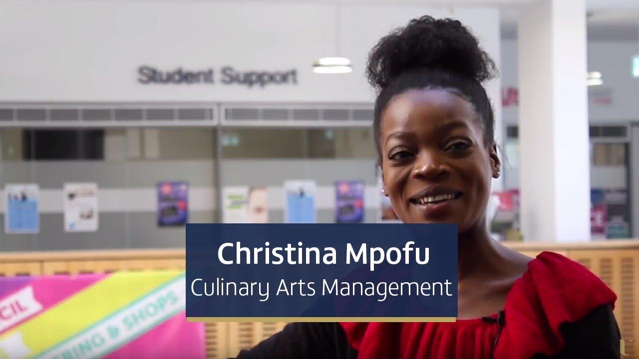 Cassandra Mpofu, final year Culinary Arts Management student from Glasgow