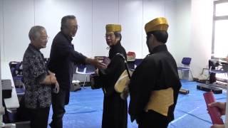 沖縄タイムス芸術選賞受賞者公演楽屋にて2015.05.16
