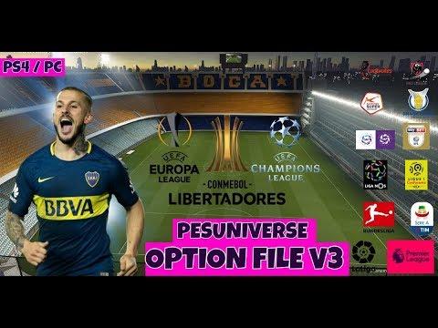 PES UNIVERSE V3 l OPTION FILE PES 2019 l TUTORIAL l PS4 Y PC