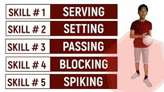 The 5 Skills in Volleyball | Matt Aeron Baes