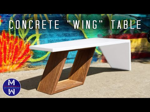 Making a White Concrete Coffee Table || How to Make || GFRC