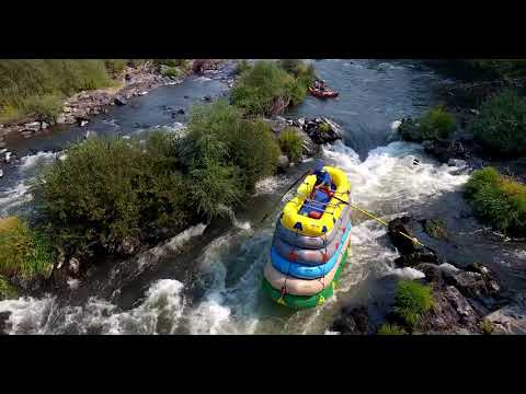 Idiot Takes on Rapids in Stacked Rafts