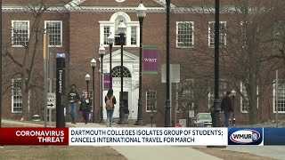 Group of students isolated at Dartmouth College