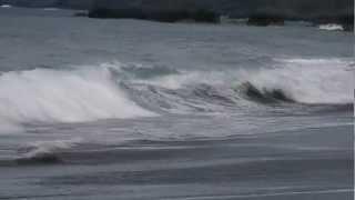 preview picture of video 'Shorebreak de ti'sable, Saint Joseph, Reunion Island'