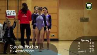 preview picture of video 'Carolin Fischer - Kunstturnen Damen - Regionalliga Mitte 2012 - 3. Wettkampftag'