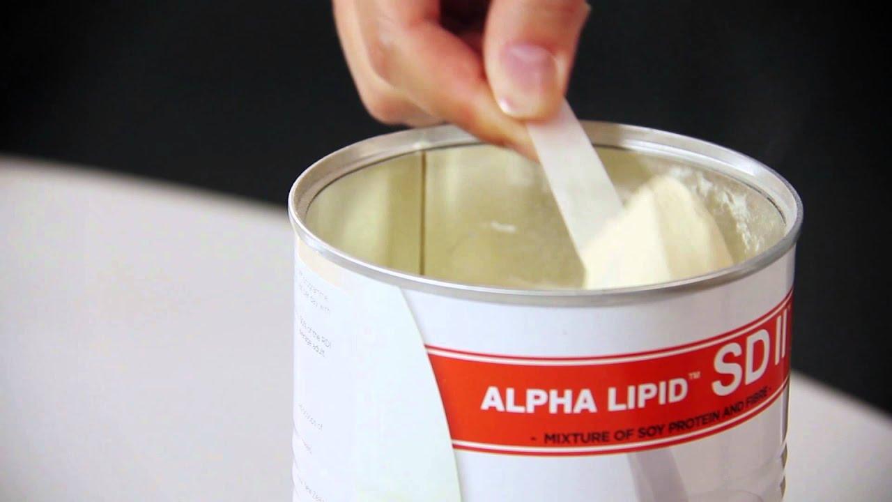 Preparing a drink of Alpha Lipid SDII