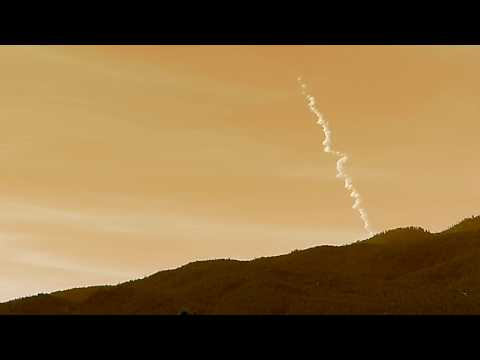 Delta IV Rocket Launch Over Southern California During Daytime