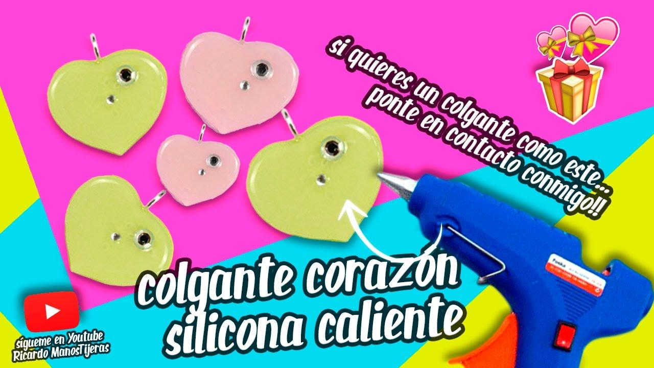 82048d693f9 Manualidades con silicona caliente  corazón de silicona y goma eva para  collar o pulsera