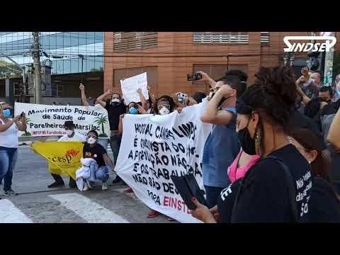 Manifestantes vão ao Albert Einstein dizer que não aceitam terceirização do Hospital do Campo Limpo