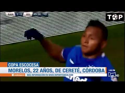Alfredo Morelos, goleador colombiano en el Rangers de Escocia