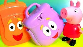 Surprise Dora the Explorer Backpack & Diego Rescue Talking Backpack Surprise Eggs Go,Diego,Go