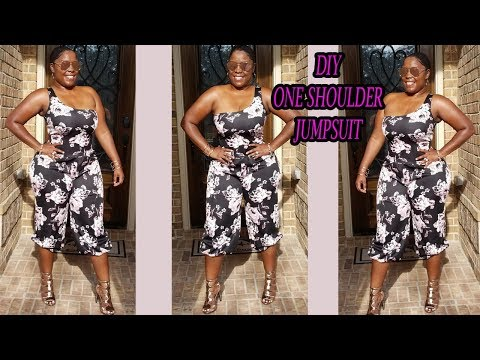 DIY ONE SHOULDER JUMPSUIT WITH CROPPED PANTS/ HOW TO MAKE A JUMPSUIT EASY