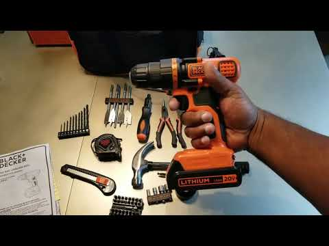 Black & Decker Tool Kit LDX120PK Unboxing Review