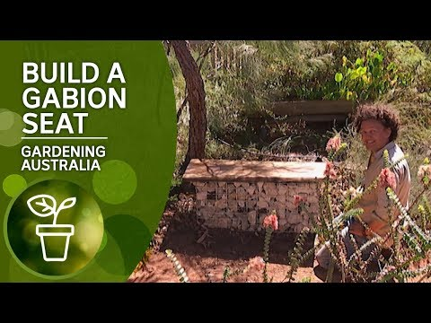 How to build a rock-filled gabion seat