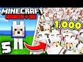 1,000 DOG ARMY In Hardcore Minecraft 1.17 (#5)