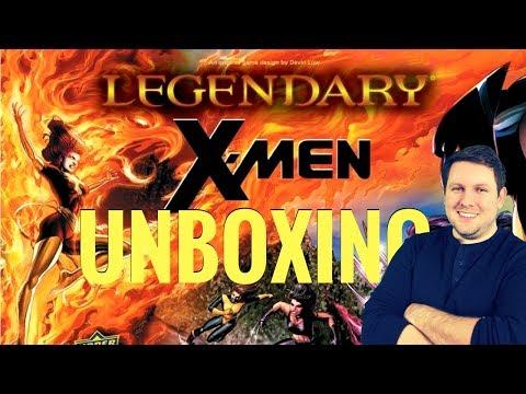 Legendary: X-men Unboxing - Content rundown