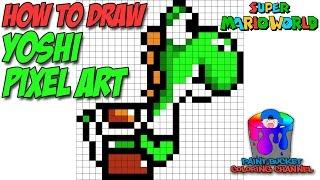 How To Draw Yoshi Pixel Art 16 Bit