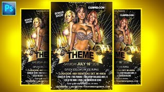 How To Make Flyers On Adobe PSD Photoshop Tutorials CC Party Event Club Graphic Design