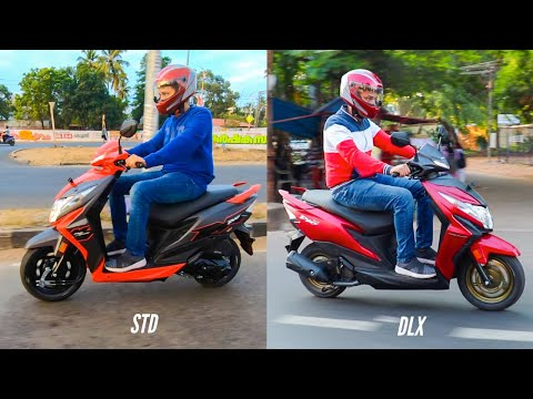 2020 Honda Dio BS-6 DLX v/s STD variant comparison review. (видео)